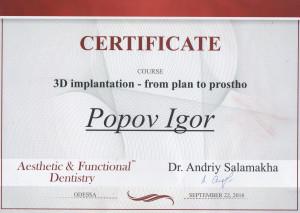 Popov Igor Sertificat